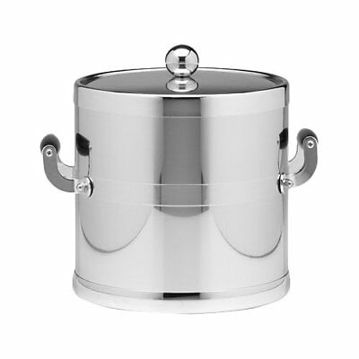 Kraftware Americano 3 Qt Ice Bucket with Metal Cover in Chrome