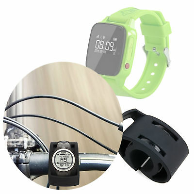Black Bicycle Handlebar Mount Kit for Haier SOS Connected Smartwatch
