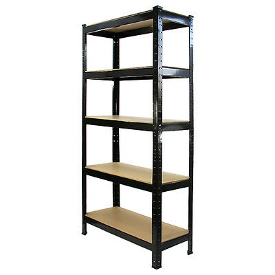 1 Garage Shelving Racking Heavy Duty Steel Boltless Warehouse Unit 5 Tier 75cm