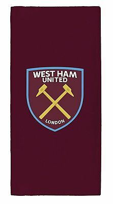 Official West Ham United Fc Football Club Crest Beach Bath Towel 100% Cotton