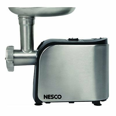 Nesco Food Grinder 500w #5 Head - Brushed Stainless Steel