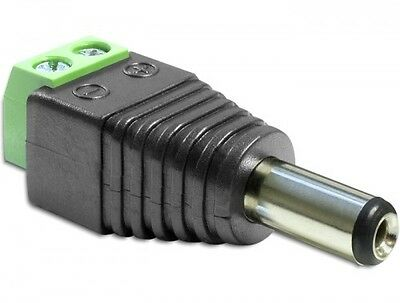 delock adapter dc 2,5 x 5,5mm stecker an terminalblock 2 pin testadapter