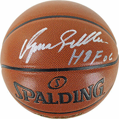 """Hawks Dominique Wilkins """"HOF 06"""" Authentic Signed Basketball PSA/DNA ITP"""