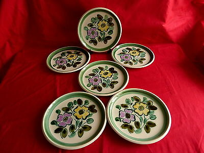 """6 assiettes plate boch service """"in the mood""""(1)"""