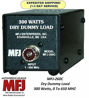 MFJ 260C Dummy Load, 300 Watts, 0-650 MHZ, Dry, Air Cooled - NEW