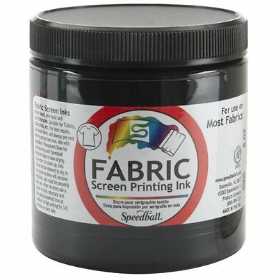 Speedball Art Products Fabric Screen Printing Ink 8 oz Black