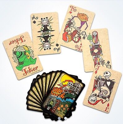 Disney Parks Nightmare Before Christmas Playing Cards Coffin Box Haunted Mansion