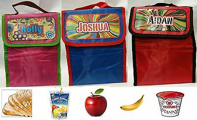 Kid`s Girls & Boys Personalized Named Insulated Eco-Friendly Lunch Bag Box New