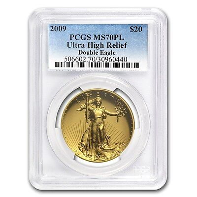 2009 Ultra High Relief Double Eagle MS-70 PL PCGS - SKU #65313