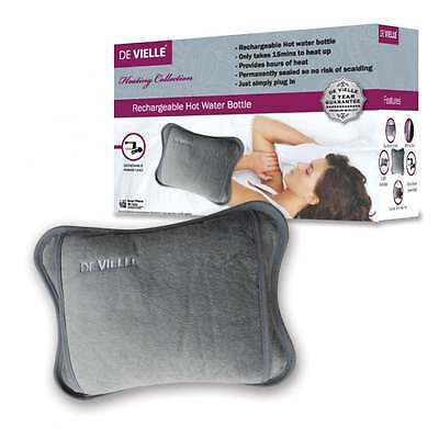 De Vielle DEV766548 Rechargeable Hot Water Bottle and Hand Warmer (Grey)