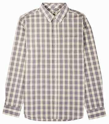 Fourstar Shane O'Neill Men's long-sleeved Grey checked Shirt - Large