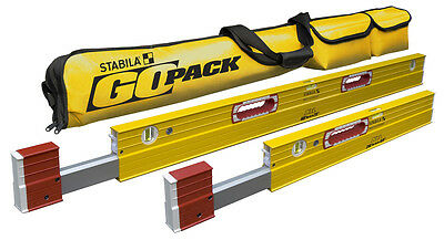 "STABILA 79248 Package 2 XtL Levels, 26""-40"" & 48""-79"" w/ Go Pack Case"