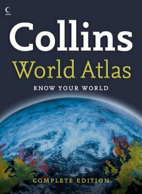 Collins Complete World Atlas by Anon Hardback Book The Cheap Fast Free Post