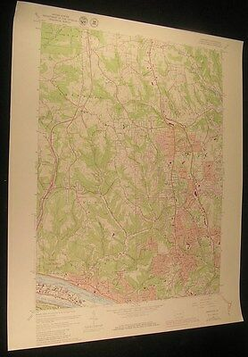 Emsworth Pennsylvania Ohio River Bayno 1980 vintage USGS original Topo chart map