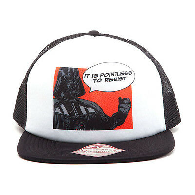 STAR WARS It Is Pointless to Resist Darth Vader Trucker Snapback Baseball Cap