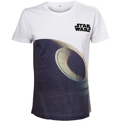 STAR WARS Adult Male Death Star T-Shirt, Small, White (TS503461STW-S)