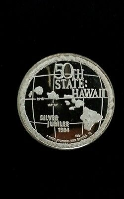 1984 50th State Hawaii A LIFETIME OF ALOHA 25 Years of Statehood 1oz Silver .999