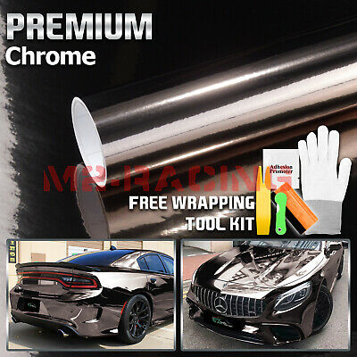 * Black Chrome Car Vinyl Wrap Sticker Decal Sheet Film Air Release Bubble Free