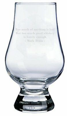 Mark Twain Quote Glencairn Whisky Glass