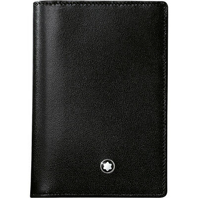 Montblanc 7167 MEISTERSTÜCK BUSINESS CARD HOLDER WITH GUSSET Black Leather