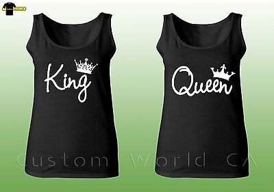 Couple Tank Top - King And Queen Love Matching Shirts New Design Couple Tee Tank