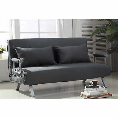 HOMCOM CONVERTIBLE SOFA Bed Adjustable Sleeper Lounger Chair ...