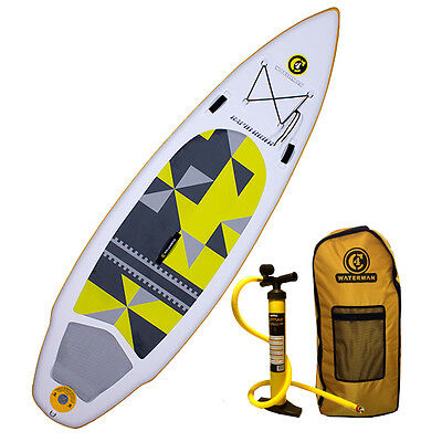 "2016 C4 Waterman 10'1"" Rapid Rider 150 Inflatable SUP Standup Paddle Board"