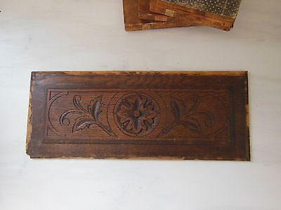 ANTIQUE FRENCH CARVED WOOD PANEL Small
