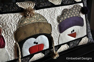Whimsy Winter ~ KimberBell Bench Pillow of Month (January) Quilt Pattern snowman