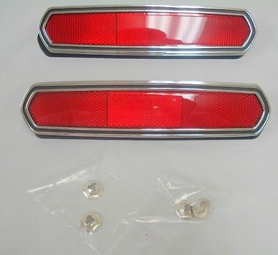 1968 Ford Mustang Rear Side Reflector Marker 68 PAIR