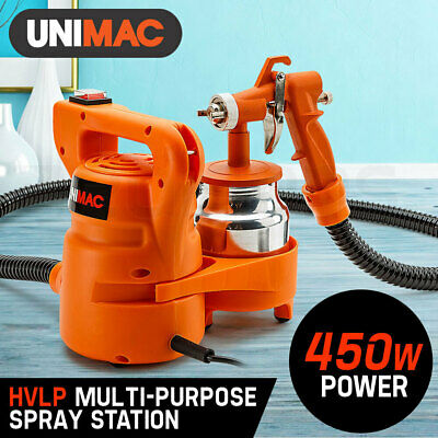 NEW Unimac 3-Way Nozzle Paint Sprayer Gun 450W HVLP Electric DIY Spray Station