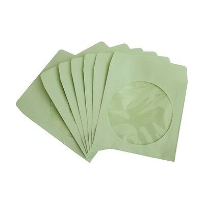 300 Pack Green Paper DVD CD Sleeve Envelope with Clear Window Cut Out and Flap