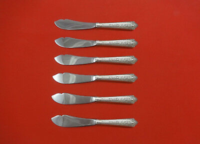 Normandie by Wallace Sterling Silver Trout Knife Set 6pc. HHWS  Custom 7 1/2""