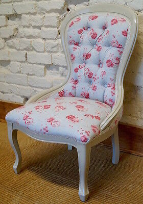 A mid 20th Century Antique Occasional Chair in PEONY and SAGE • £150.00