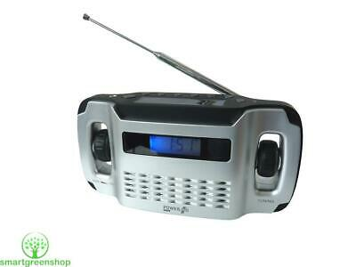 Powerplus Lynx Solar & Wind-Up Powered FM Radio with Integrated Torch