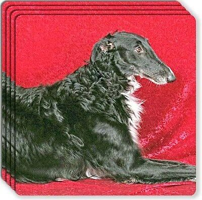 Borzoi Rubber Coaster Set