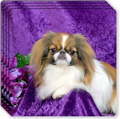 Japanese Chin Rubber Coaster Set
