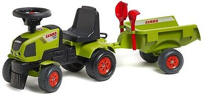 New Falk Baby Class Kids Ride On Tractor And Trailer Activity Car Toy