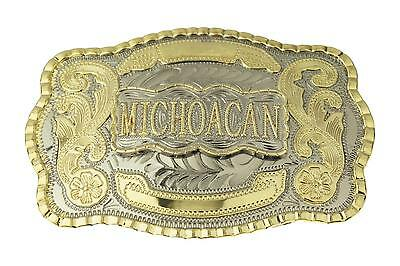 Michoacan Western Large Rodeo Cowboy Belt Buckle