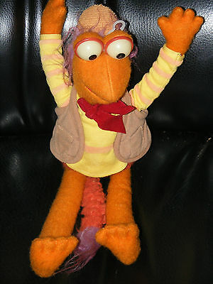 "Vintage 1983 GOBO Tomy Fraggle Rock Plush Doll Toy muppet Henson 14""h hands up"