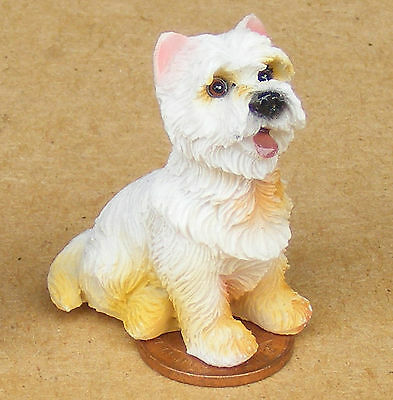1:12 Scale Resin Highland Terrier Dog Dolls House Miniature Pet Accessory LP18