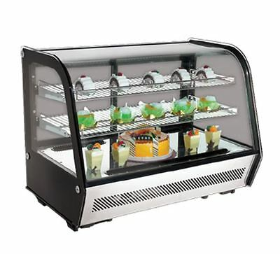 "Refrigerated Countertop Showcase, 35"" Wide, 2 Shelves, Omcan RS-CN-0160 (27157)"