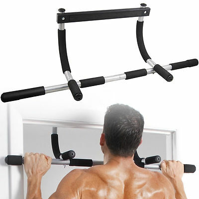 Pull Up Bar Doorway Door Mount Workout Exercise Chin Push Up Portable Home Gym
