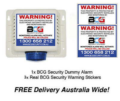 Dummy Fake Alarm - Includes 3 Warning Stickers - Dummy Alarm System Security Sys