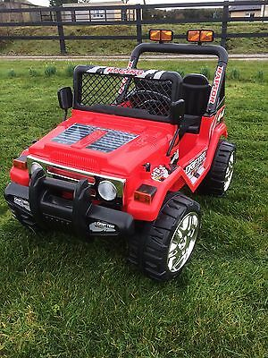 Kids 12V Raptor Electric Ride On Car 4X4 Jeep | 2-Seater | Remote Control | Red