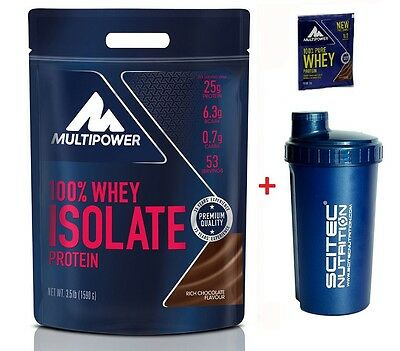 Multipower - 100% Whey Isolate 1590 g. Proteine Siero del Latte Isolate + SHAKER