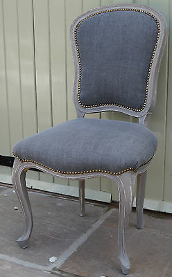 A French Bedroom Upholstered Bedroom Chair - Shabby Chic