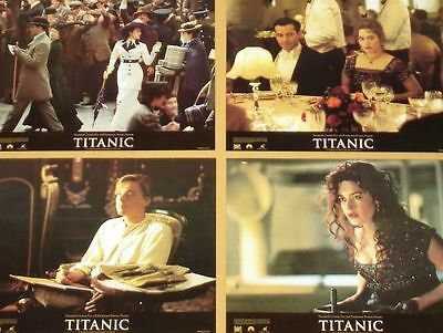 TITANIC - 11x14 US Lobby Cards Set of 10 - Leonardo DiCaprio, Kate Winslet