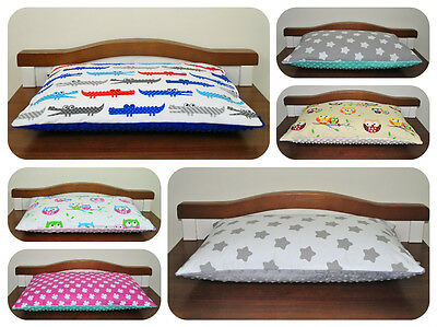 Minky/cotton pillow 40/60cm/ soft/ reversible/for cot/cotbed/handmade