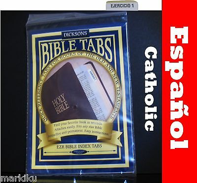 Spanish Espanol EZR Bible  index gold tabs Catholic new old Testiment Dickson